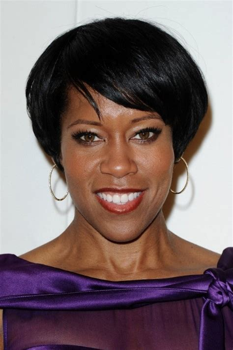 side swept hairstyles for black regina king short hairstyle chic black hairstyle with