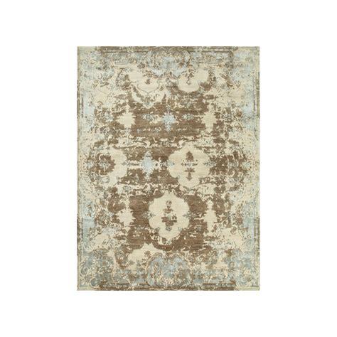 designer wool rugs designer rug versailles taupe wool silk style swanky interiors