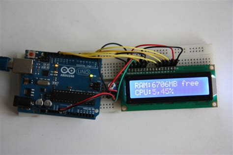 Monitor Lcd Cpu arduino cpu ram usage monitor lcd