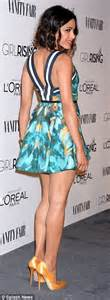 Freida Pinto flaunts her legs AND cleavage in mini dress