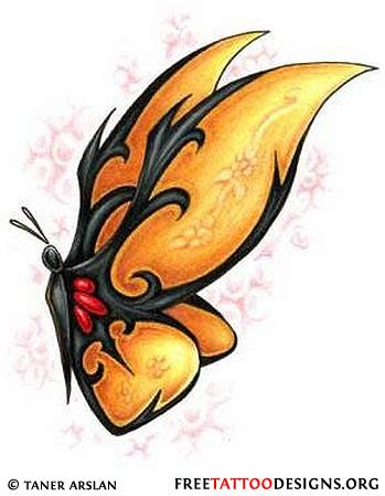 yellow butterfly tattoo yellow butterflies tattoos