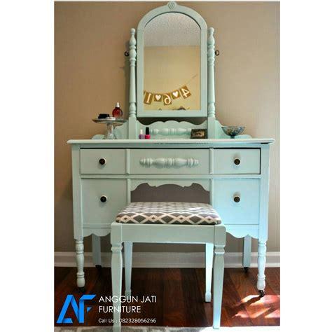 Meja Rias Minimalis Furniture Jati Jepara Model Terbaru meja rias minimalis shabby chic hijau tosca model meja