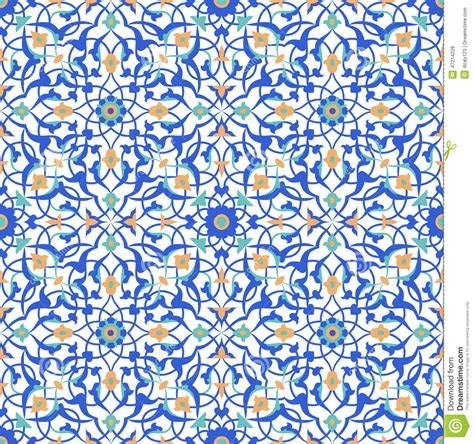 blue islamic pattern islamic pattern stock vector image 47214226