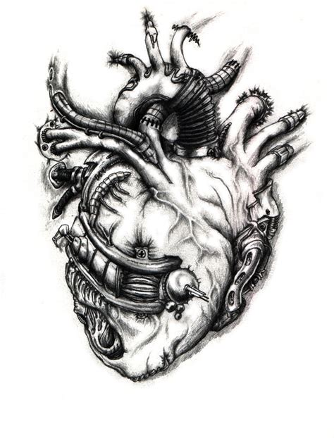 biomechanical heart tattoo designs biomechanical by bobbu on deviantart