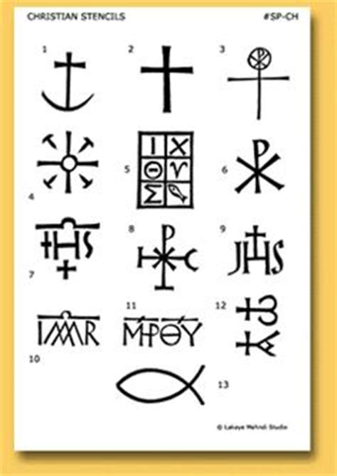 Ancient Christian Symbols Tattoo