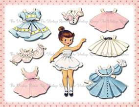 Paper Dolls Printable Template by Instant Paper Doll Digital Printable By