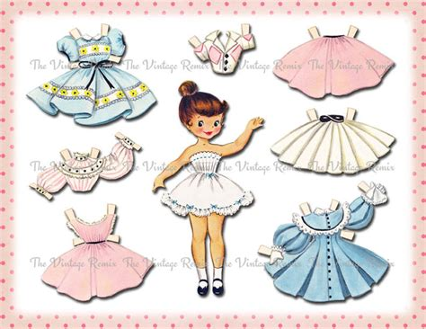 printable paper dolls instant download paper doll digital printable by