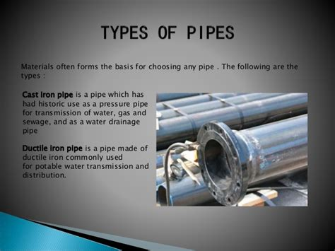 Types Of Plumbing Pipes Materials by Pipes Fittings Fixtures And Appliance