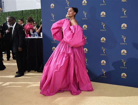 tracee ellis ross pink dress the best looks from the emmys 2018 red carpet sbs life