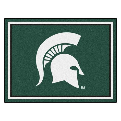 of michigan rug fanmats ncaa michigan state green 10 ft x 8 ft indoor rectangle area rug 18905