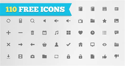 free download 110 flat icons for personal or commercial use with psds