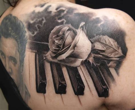 music rose tattoo designs 65 most popular piano tattoos golfian