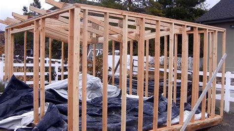 building  garden shed part  youtube