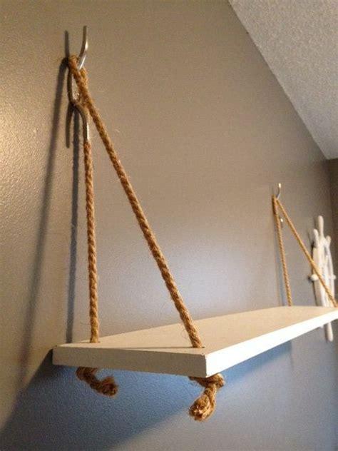 hanging wood shelves hanging shelves nautical and nautical theme on