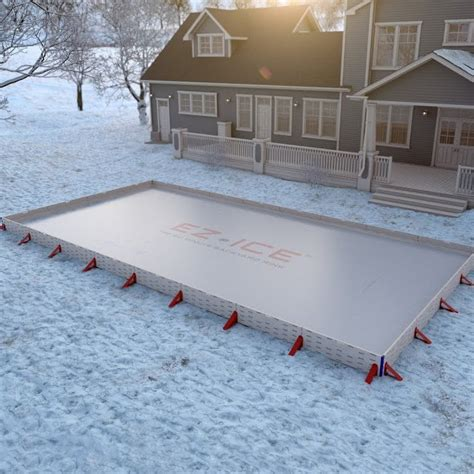 backyard ice skating rink kits ez ice backyard ice rink kit 187 petagadget