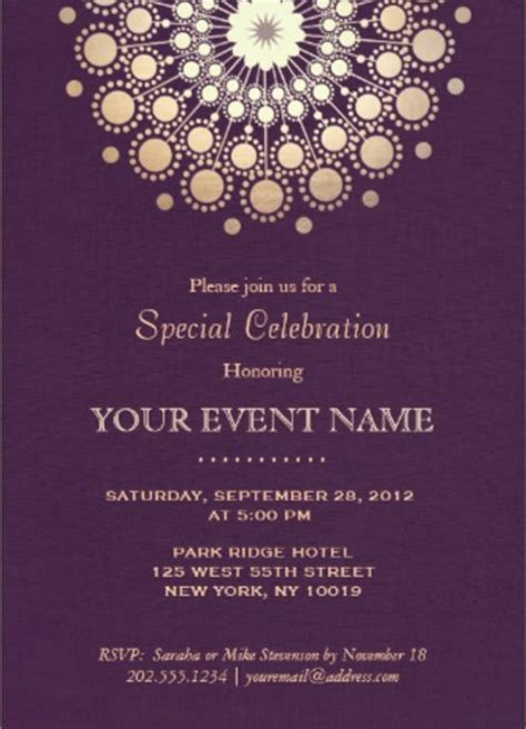 29 formal invitation templates free sle exle