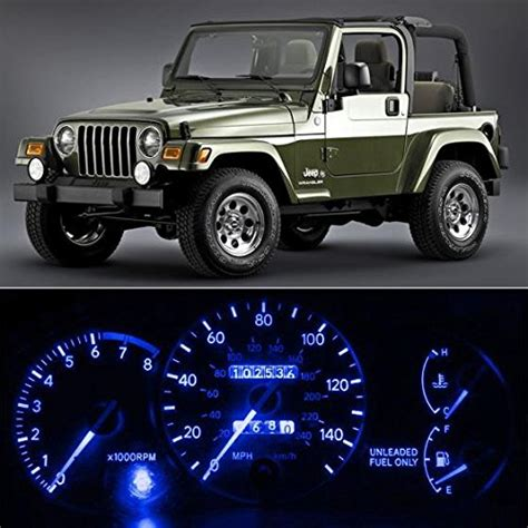 1997 jeep wrangler seat belt light partsam 6 light smd blue led speedometer indicator package