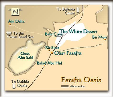 oasis map farafra oasis map