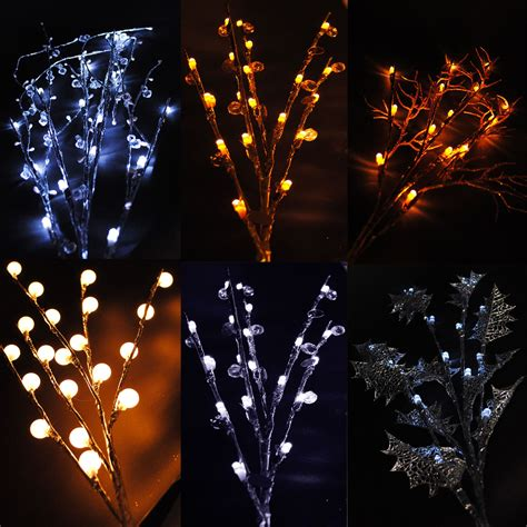 christmas led branch twig lights indoor battery home