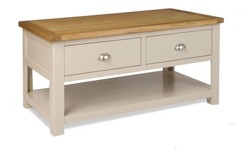 painted coffee tables with drawers colour painted oak large coffee table with drawers