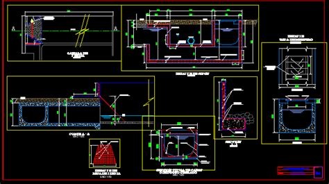 water canal dwg section  autocad designs cad