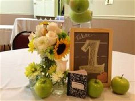 education theme party centerpieces for teacher retirement party party ideas