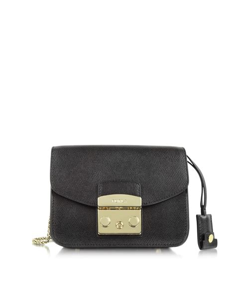 Mini Furla furla black metropolis mini crossbody bag lyst