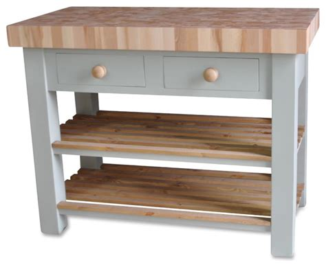 kitchen butchers block trolley butchers block island 120cm by 60cm country kitchen