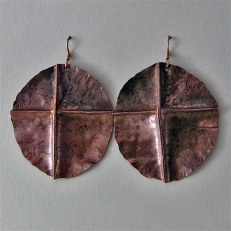 Copper Handmade - handmade copper fold formed earrings