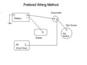 gallery for gt 1 wire alternator diagram
