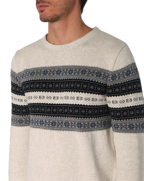 pattern off white selected ayden pattern off white fair isle print sweater