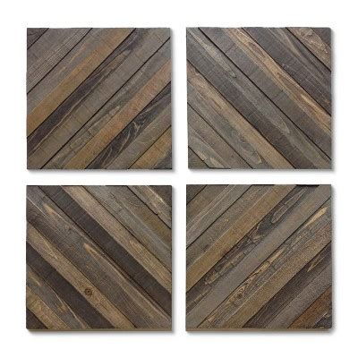 Panel Wood Rushteriosnew Set wood decorative panels set of 4 threshold target