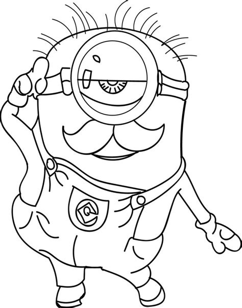 Minion Coloring Pages Best Coloring Pages For Kids Print Coloring Sheets