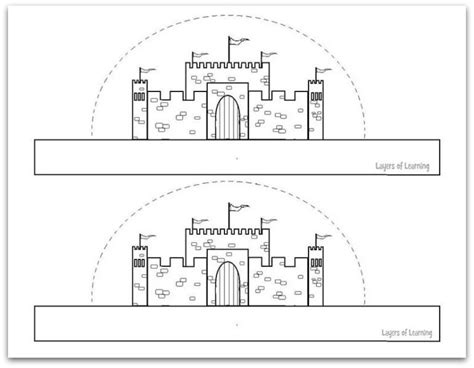 printable mini castle craft layers of learning