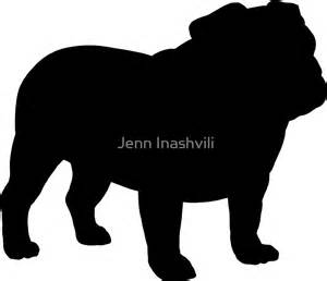 How To Use A Duvet Quot Bulldog Silhouette S Quot Stickers By Jenn Inashvili Redbubble