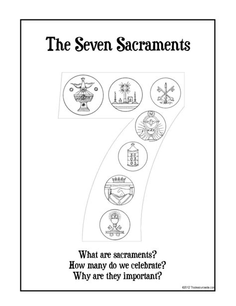 free all seven sacraments coloring pages