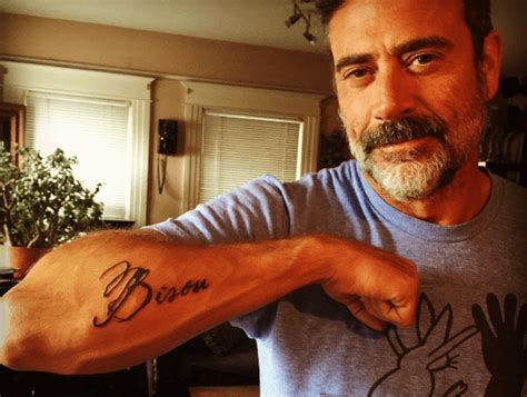 the walking dead actor jeffrey dean morgan s tattoo is a