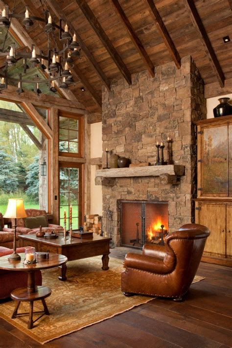 living room rustic 15 warm cozy rustic living room designs for a cozy winter