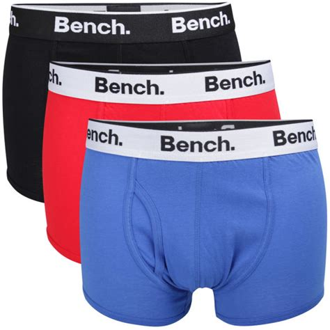 bench boxers bench men s 3 pack basic boxers black red blue mens