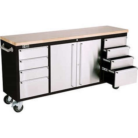 costco rolling tool bench trinity 182 88 cm 72 in rolling workbench