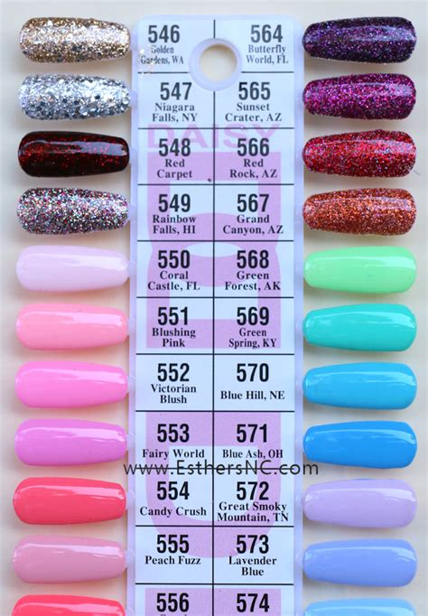 gel color gel nail swatches