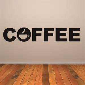 Coffee Wall Stickers Coffee Text Cafe Kitchen Drinks Wall Art Stickers Wall