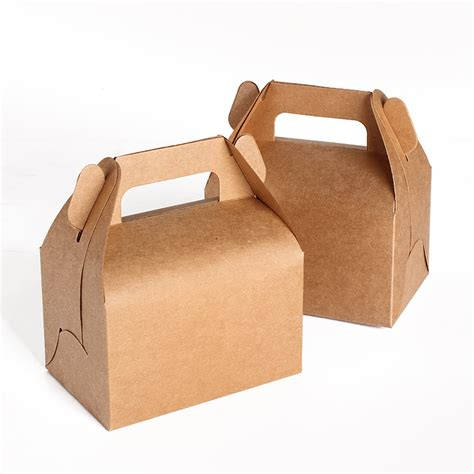Box Container Favourite 6 Ltr Small Dengan Handle 13 8 5 8cm small kraft paper cake box with handle wedding cake boxes and packaging gift box in