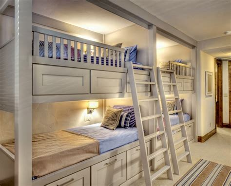 bright white bunk bed ideas wall lights white ladder