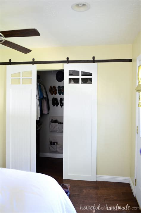 build closet door closet sliding barn doors build plans a houseful of handmade