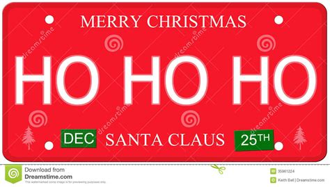 Sticker Plat California Santa ho ho ho license plate stock images image 35961224