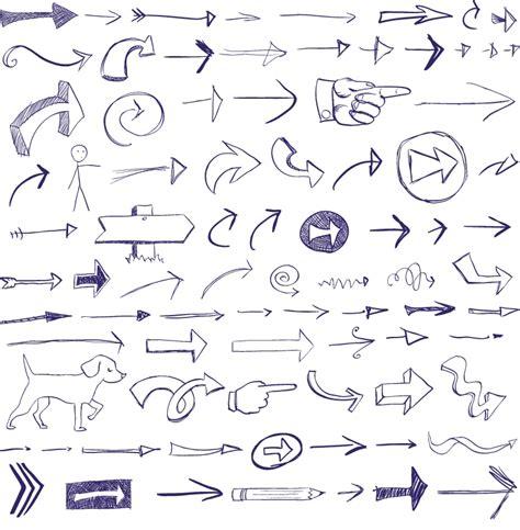 doodle arrows free vector あったら便利 無料で使える手書き風の矢印3set 商用可 eps free style