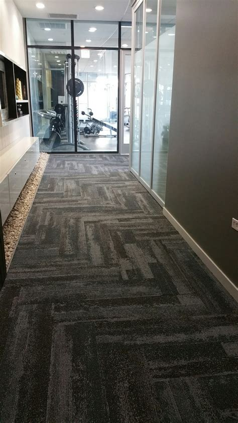 Silver Tower Condo Corridor Interface carpet tile style CT112 Interface & FLOR Products
