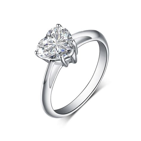 cut 925 sterling silver white sapphire engagement