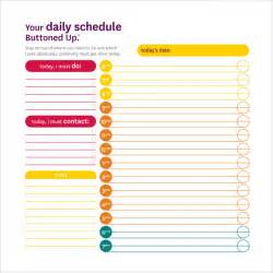 Student Schedule Template by Daily Schedule Template 14 Free Documents In